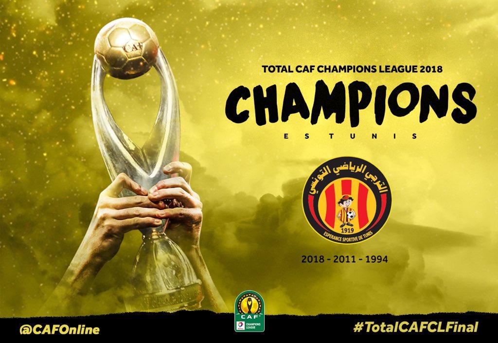 Champions League CAF 2018 : troisième étoile pour l'Espérance