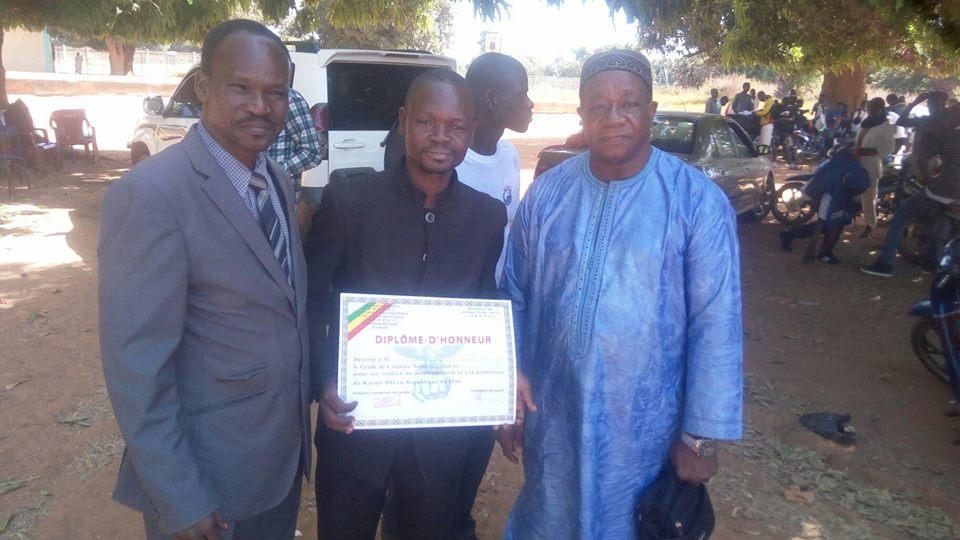 Karaté-Mali : pour ses loyaux services notre confrère Moussa DIARRA, ceinture noire...