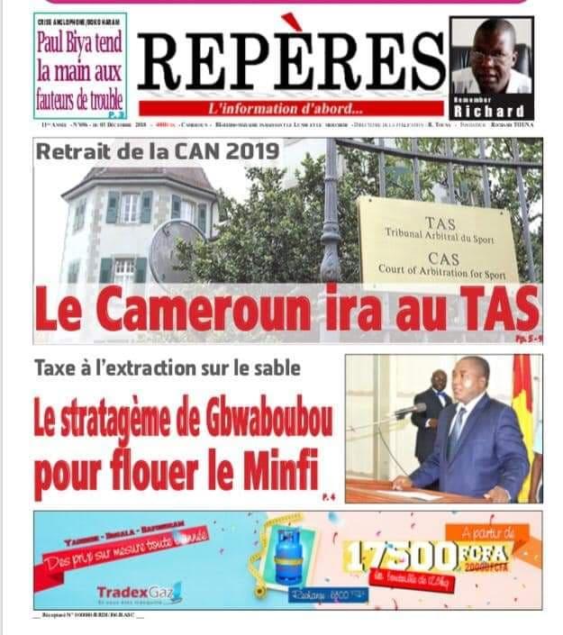 Retrait de la CAN 2019 au Cameroun : le TAS saisi ?